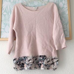 Club Monaco pink wool sweater small